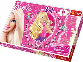 Pussel 15 bits Barbie Magic dekor
