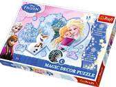 Pussel 15 bits Frozen Winter magic Olaf Anna Elsa